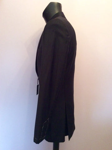 BRAND NEW EX SAMPLE JAEGER BLACK STRIPE WOOL SUIT JACKET SIZE 38L - Whispers Dress Agency - Mens Suits & Tailoring - 2