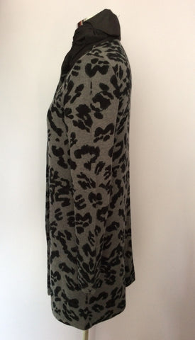 BETTY BARCLAY GREY & BLACK PRINT LONG JACKET SIZE 10/12 - Whispers Dress Agency - Womens Coats & Jackets - 2