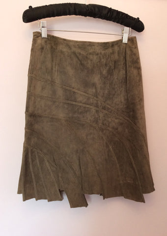 Betty Barclay Brown Suede Skirt Size 8 - Whispers Dress Agency - Womens Skirts - 2