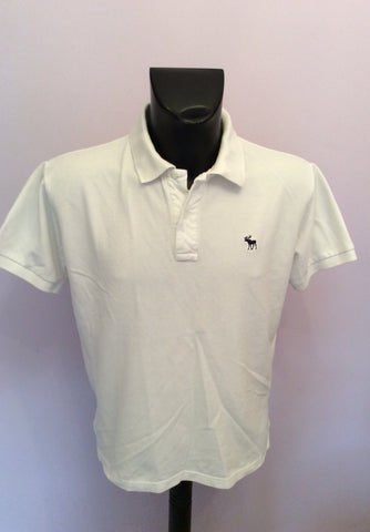 Abercrombie & Fitch White Short Sleeve Polo Shirt Size L - Whispers Dress Agency - Mens Casual Shirts & Tops - 1