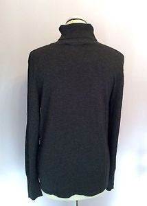 Betty Barclay Dark Grey Poloneck Jumper Size 16 - Whispers Dress Agency - Sold - 3
