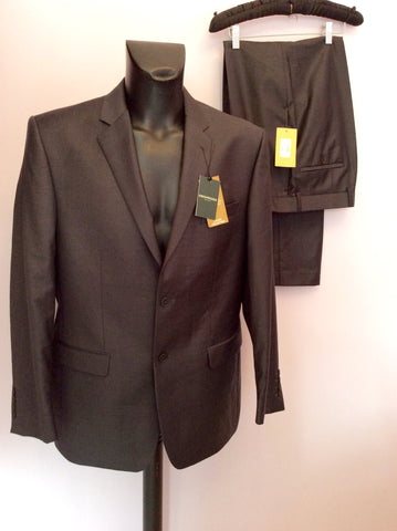 Brand New Greenwoods Dark Grey Wool Blend Suit Size 42R /36R - Whispers Dress Agency - Mens Suits & Tailoring - 1