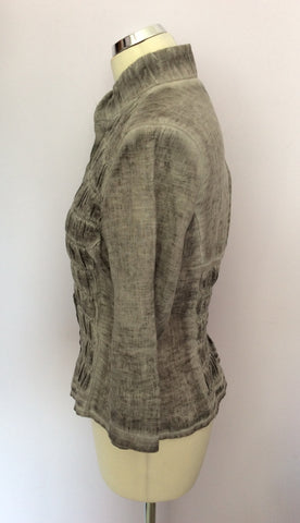 BETTY BARCLAY GREY LINEN JACKET/TOP & TROUSER SUIT SIZE 10 - Whispers Dress Agency - Womens Suits & Tailoring - 3