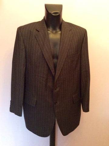Aquascutum Dark Grey Pinstripe Wool Suit Jacket Size 44R - Whispers Dress Agency - Mens Suits & Tailoring - 1