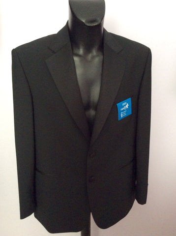 Brand New Marks & Spencer Black Spill Resist Machine Washable Tuxedo Suit Size 42 /34W - Whispers Dress Agency - Mens Suits & Tailoring - 2