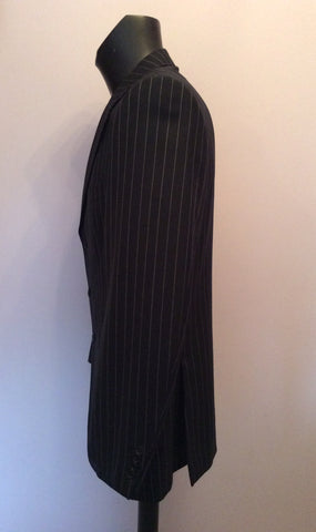 Aquascutum Charcoal Pinstripe Wool Suit Jacket Size 42L - Whispers Dress Agency - Mens Suits & Tailoring - 3