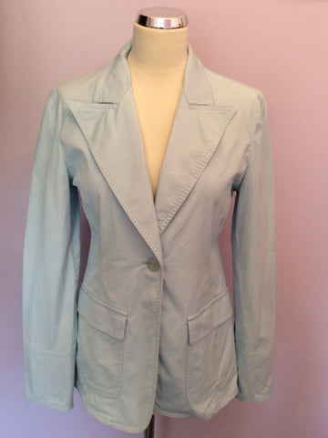 Armani Jeans Light Blue Jacket Size 14 - Whispers Dress Agency - Womens Coats & Jackets - 1