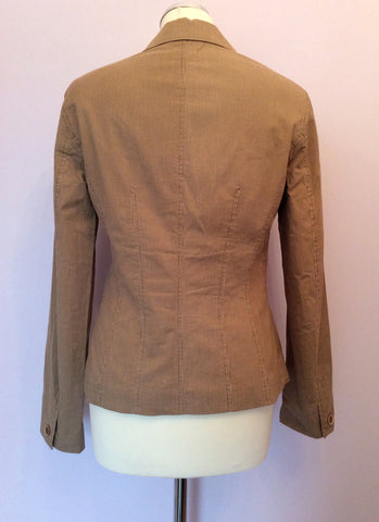 Betty Barclay Brown Pinstripe Jacket Size 10 - Whispers Dress Agency - Womens Coats & Jackets - 2