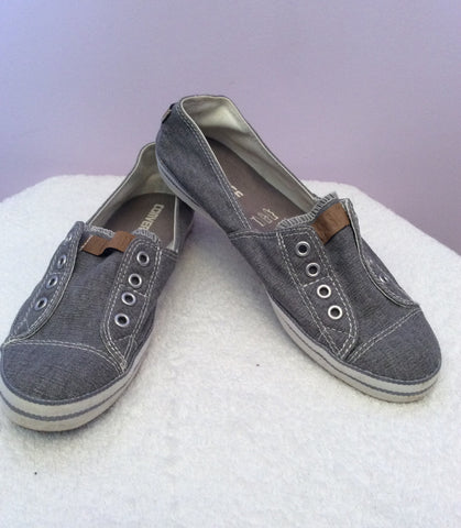 Brand New Converse All Star Grey Canvas Plimsols Size 7/41 - Whispers Dress Agency - Womens Trainers & Plimsolls - 2