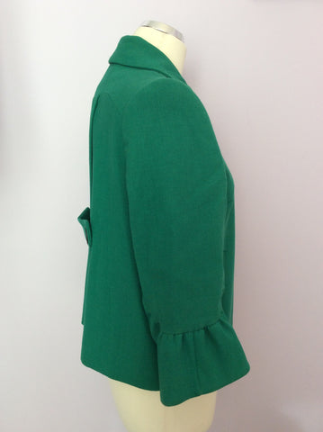 Betty Jackson Emerald Green Jacket Size 10 - Whispers Dress Agency - Womens Coats & Jackets - 2