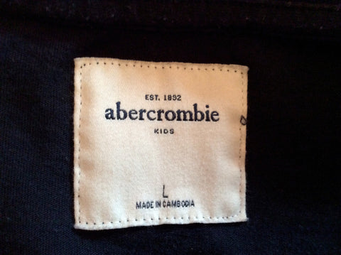 Abercrombie & Fitch Kids Dark Blue Long Sleeve Top Size L - Whispers Dress Agency - Boys T Shirts & Tops - 2