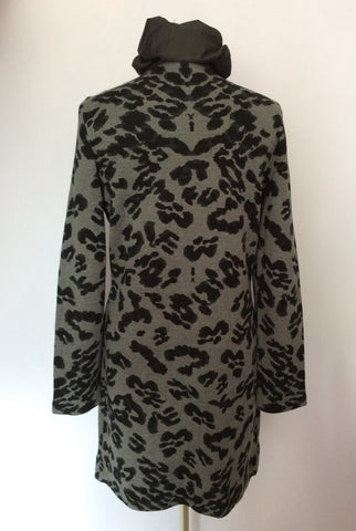 BETTY BARCLAY GREY & BLACK PRINT LONG JACKET SIZE 10/12 - Whispers Dress Agency - Womens Coats & Jackets - 3