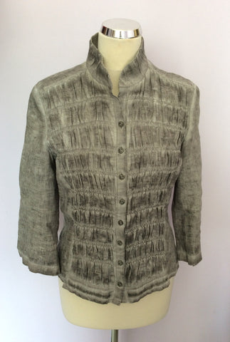 BETTY BARCLAY GREY LINEN JACKET/TOP & TROUSER SUIT SIZE 10 - Whispers Dress Agency - Womens Suits & Tailoring - 2
