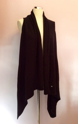 Betty Barclay Black Sleeveless Cardigan Size 14 - Whispers Dress Agency - Womens Knitwear - 1