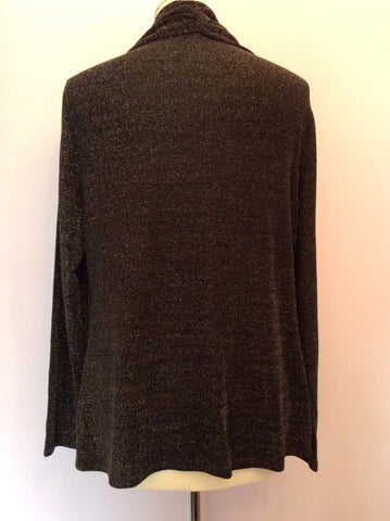 Alexon Black Top & Silver Sparkle Cardigan Size L - Whispers Dress Agency - Womens Tops - 2