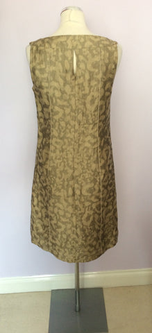 BETTY BARCLAY PALE GOLD & BRONZE PRINT LINEN DRESS & JACKET SUIT SIZE 10 - Whispers Dress Agency - Womens Suits & Tailoring - 7