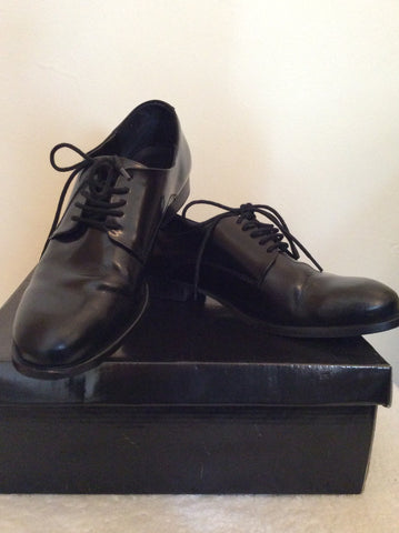 Asos Black Leather Lace Up Shoes Size 7 /40 - Whispers Dress Agency - Mens Formal Shoes - 1
