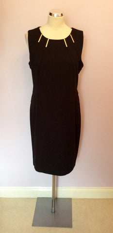 Brand New Episode Black & Gold Trim Ponte Pencil Dress Size 16 - Whispers Dress Agency - Womens Dresses - 1