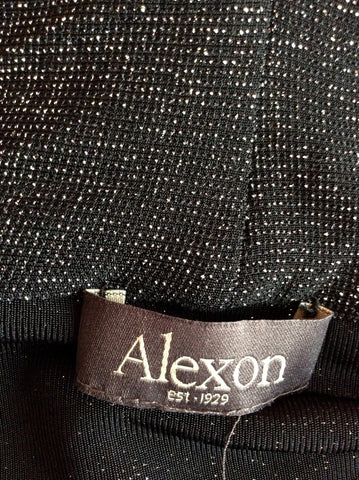Alexon Black Top & Silver Sparkle Cardigan Size L - Whispers Dress Agency - Womens Tops - 3