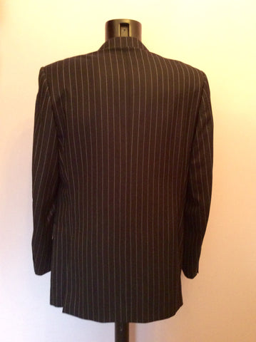 Aquascutum Charcoal Pinstripe Wool Suit Jacket Size 42L - Whispers Dress Agency - Mens Suits & Tailoring - 4