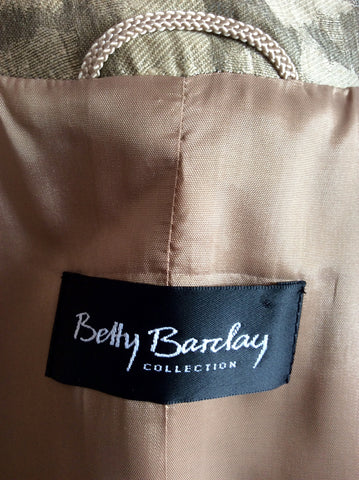 BETTY BARCLAY PALE GOLD & BRONZE PRINT LINEN DRESS & JACKET SUIT SIZE 10 - Whispers Dress Agency - Womens Suits & Tailoring - 8
