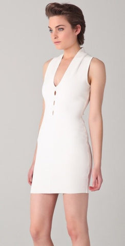 Brand New Alexander Wang White Cut Out Bodycon Dress Size L - Whispers Dress Agency - Womens Dresses - 2
