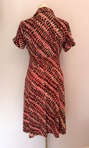 Betty Jackson Pink & Black Print Dress Size 8 - Whispers Dress Agency - Womens Dresses - 3