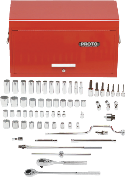 Proto Tools Socket Set with Tool Box - 65 PC - AMMC