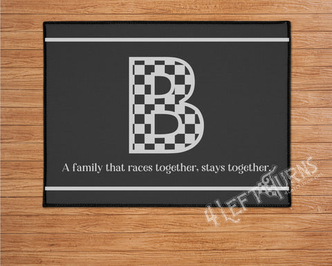 Personalized Racing Welcome Mat