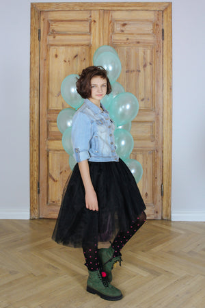 Black Félicie High-Low Girls Tutu Skirt - LAZY FRANCIS - Shop in store at 406 Kings Road, Chelsea, London or shop online at www.lazyfrancis.com
