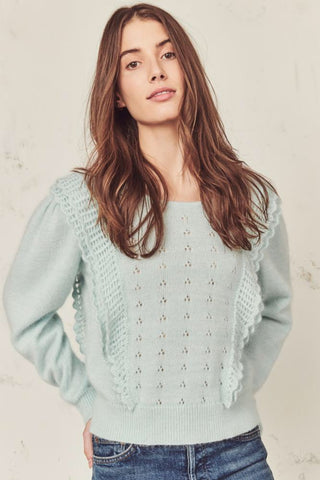 Love Shack Fancy Jasmine Pullover