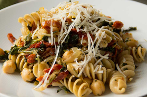Pasta Of Chickpeas With Pancetta and Kale