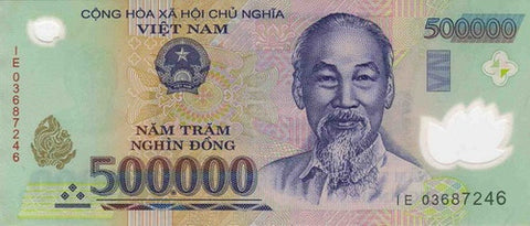 vietnam dong 500000 banknote currency 10 pieces
