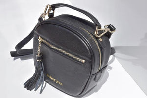 Starry Black Luxe Litte Leather Bag