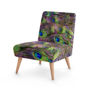 Peacock Feather Accent Occasional Chair