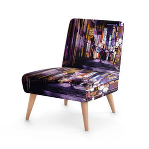 Modern Street Scene Accent Occasional Chair