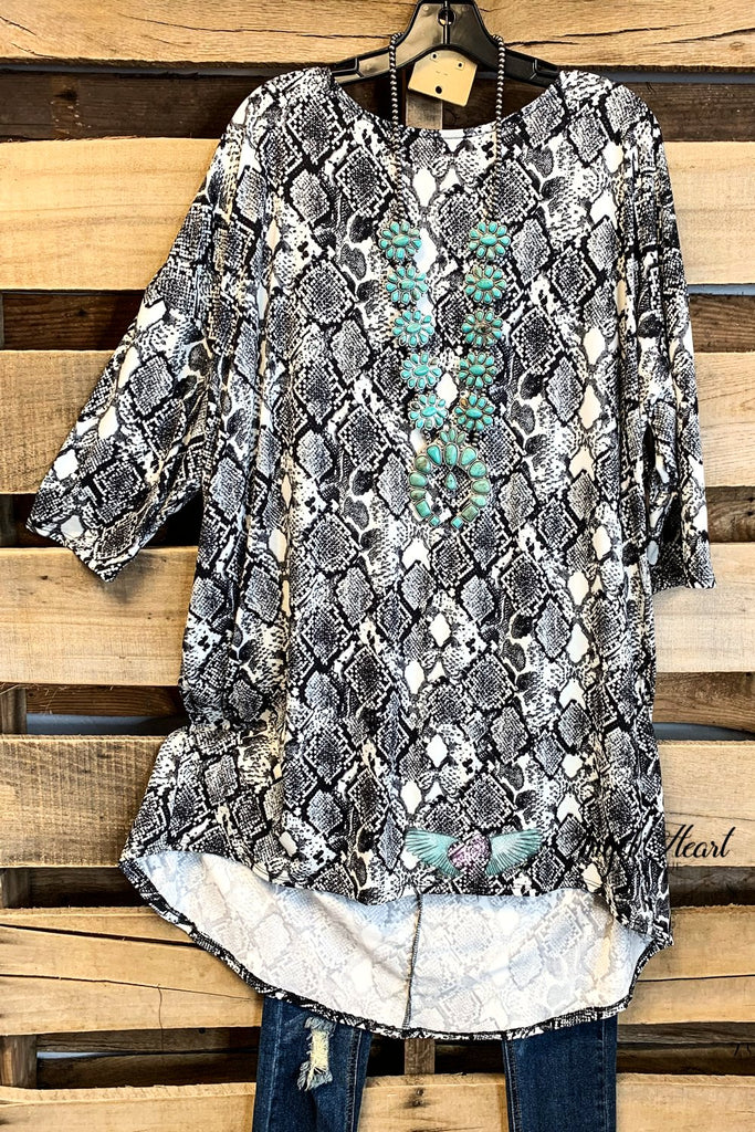 Oversized Tunic Dress - Snakeskin - SALE