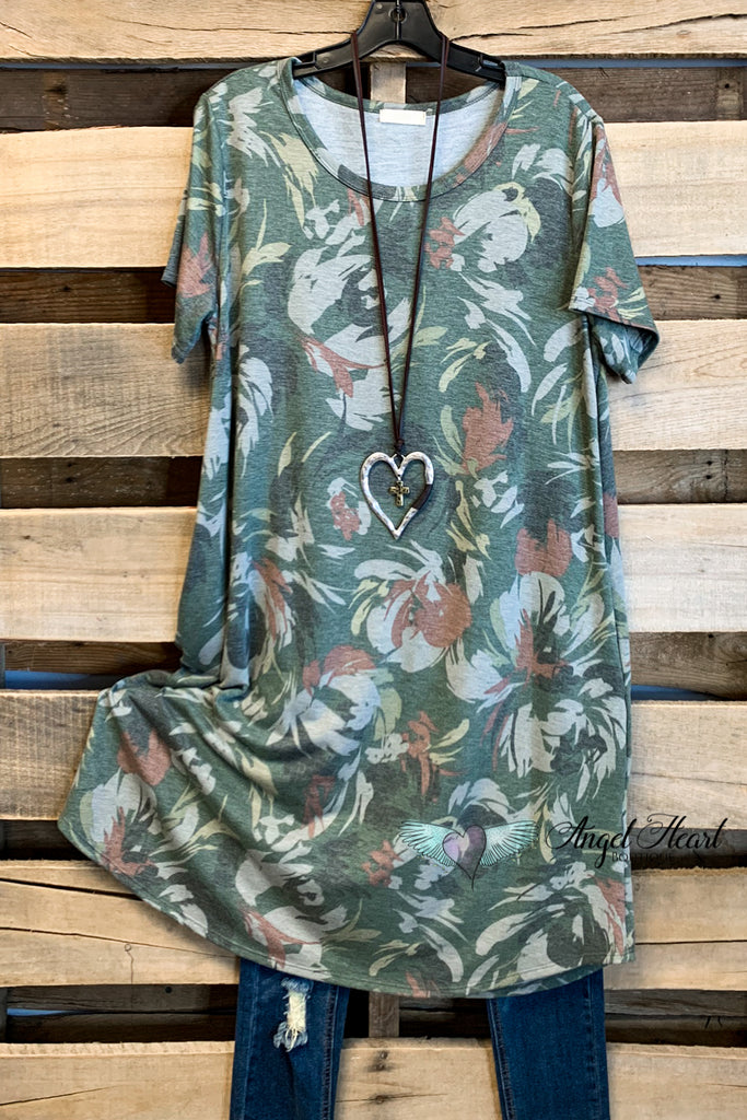 Won't Back Down Dress - Camo/Green