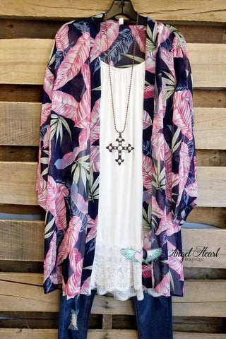 AHB EXCLUSIVE: TWISTED FATE KIMONO - White Mix
