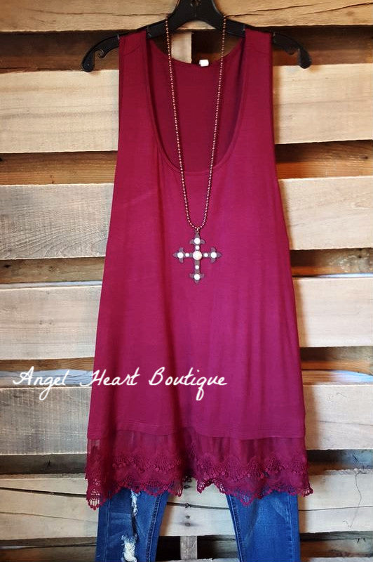 Extender: Slip on Tank/Tunic - Burgundy - Emerald - Dress - Angel Heart Boutique