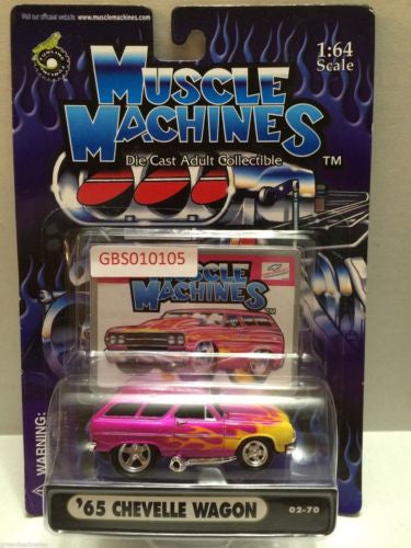 (TAS030763) - Muscle Machines Die Cast Car - '65 Chevelle Wagon, , Cars, Muscle Machines, The Angry Spider Vintage Toys & Collectibles Store