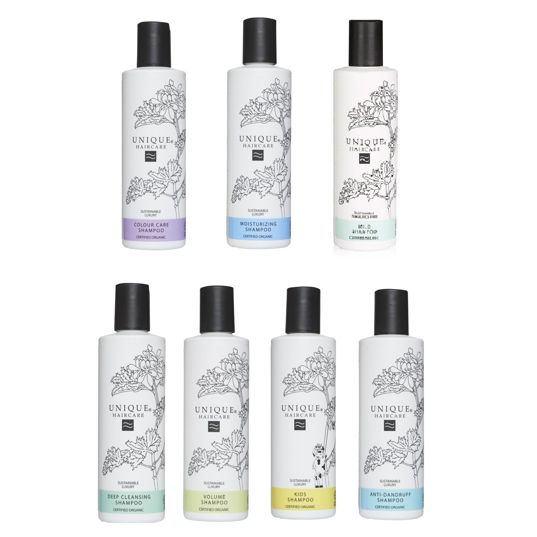 UNIQUE BEAUTY Shampoo 250ml (7 Types Available) - Foodcraft Online Store