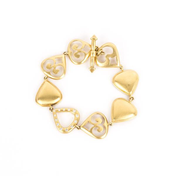Pre-Owned Elizabeth Rand Drop Link Bracelet