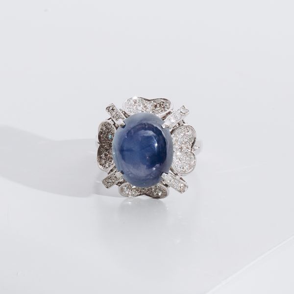 Pre-Owned Star Sapphire and Diamond Ring