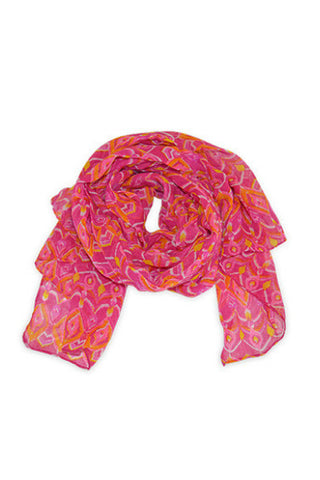 All For Color  Sunrise Ikat Scarf