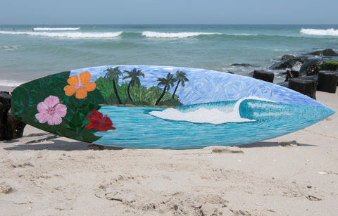 Paradise Found Mosaic Surfboard —The C Glass Studio