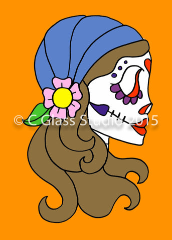 Gypsy Day of the Dead Print —The C Glass Studio