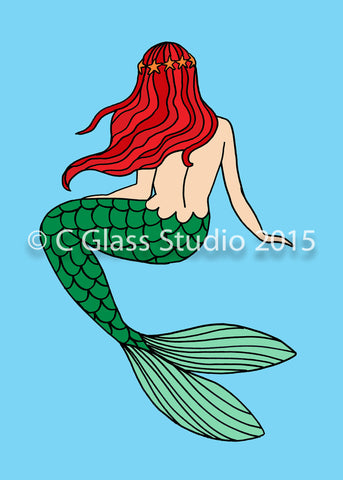 Mermaid Ariel —The C Glass Studio