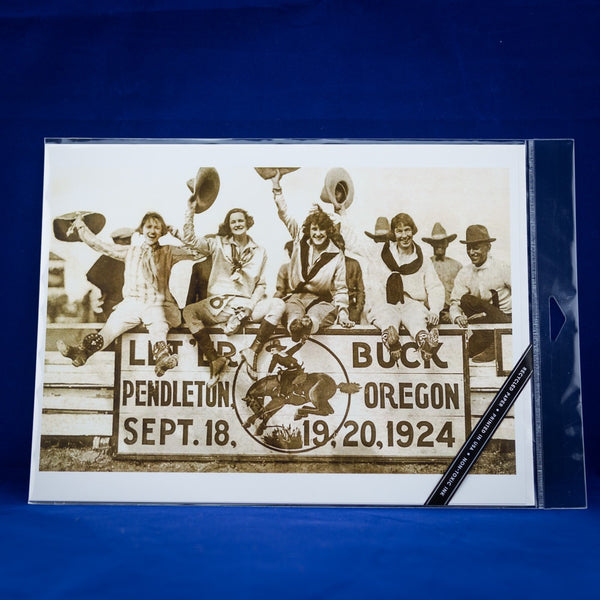 9x12 Pendleton Round-Up Four Cowgirls Poster