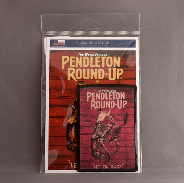 Pendleton Round-Up Barnwood Collectible Iron-On Patch